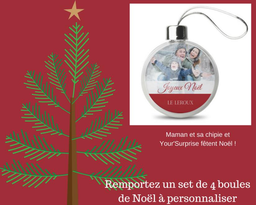 Remportez un set de 4 boules de Noël à personnaliser